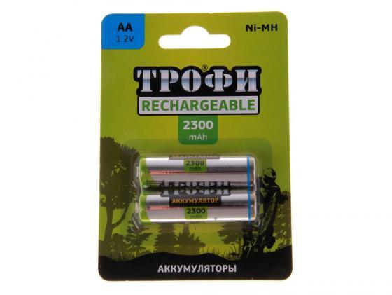 Аккумулятор 2300 mAh ТРОФИ HR6-2BL AA 2 шт аккумулятор aa videx hr6 600 mah 2bl