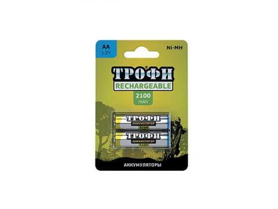 Аккумулятор 2100 mAh ТРОФИ HR6-2BL AA 2 шт аккумулятор aa videx hr6 600 mah 2bl