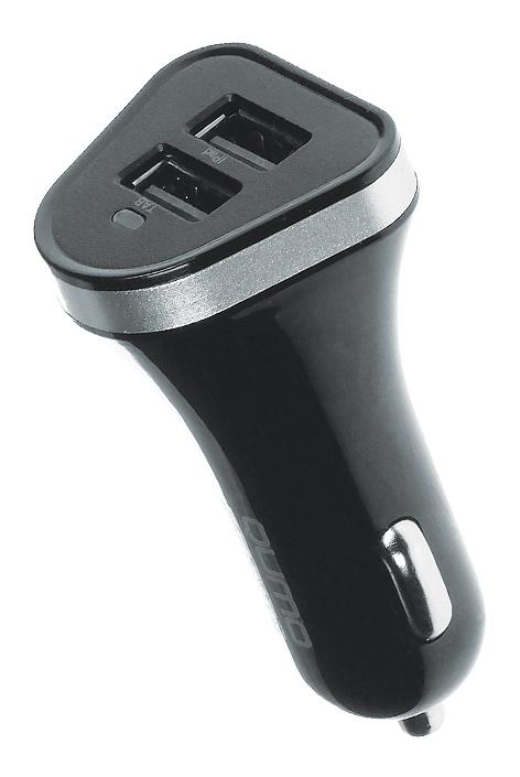 Автомобильное зарядное устройство 3A, 2 USB, 1A+2A черный, кабель Micro USB в комплекте (Charger 0064) автомобильное зарядное устройство energea active drive usb кабель micro usb адаптер lightning 2 4a черный