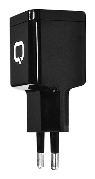 Сетевое зарядное устройство Qumo Energy (Charger 0003), 1 USB, 1A, micro USB cable, черный dual usb car charger adapter micro usb data charging cable for lg nexus 5 green black