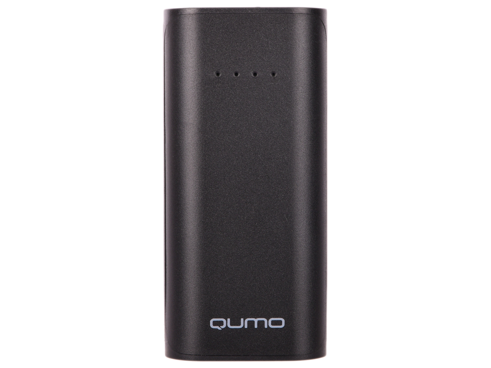 Картинка для Внешний аккумулятор Qumo PowerAid 5200, 5200 мА-ч, 1xUSB 1A, вход до 1А, черный, корпус ABS пластик
