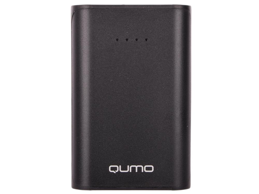 Внешний аккумулятор Qumo PowerAid 6600, 6600 мА-ч, 2 USB 1A+2A (2.1А сумм), вход до 1.5А, черный, корпус ABS пластик аккумулятор qumo poweraid slim glossy 10000