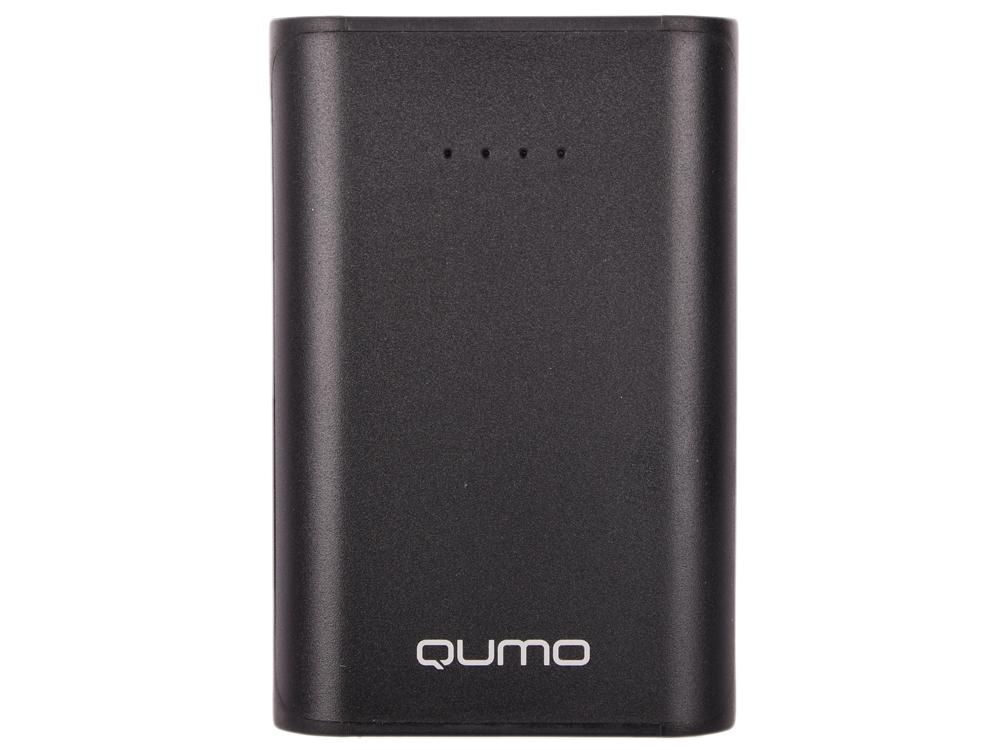 Внешний аккумулятор Qumo PowerAid 7800, 7800 мА-ч, 2 USB 1A+2A (2.1А сумм), вход до 1.5А, черный, корпус ABS пластик аккумулятор qumo poweraid slim glossy 10000