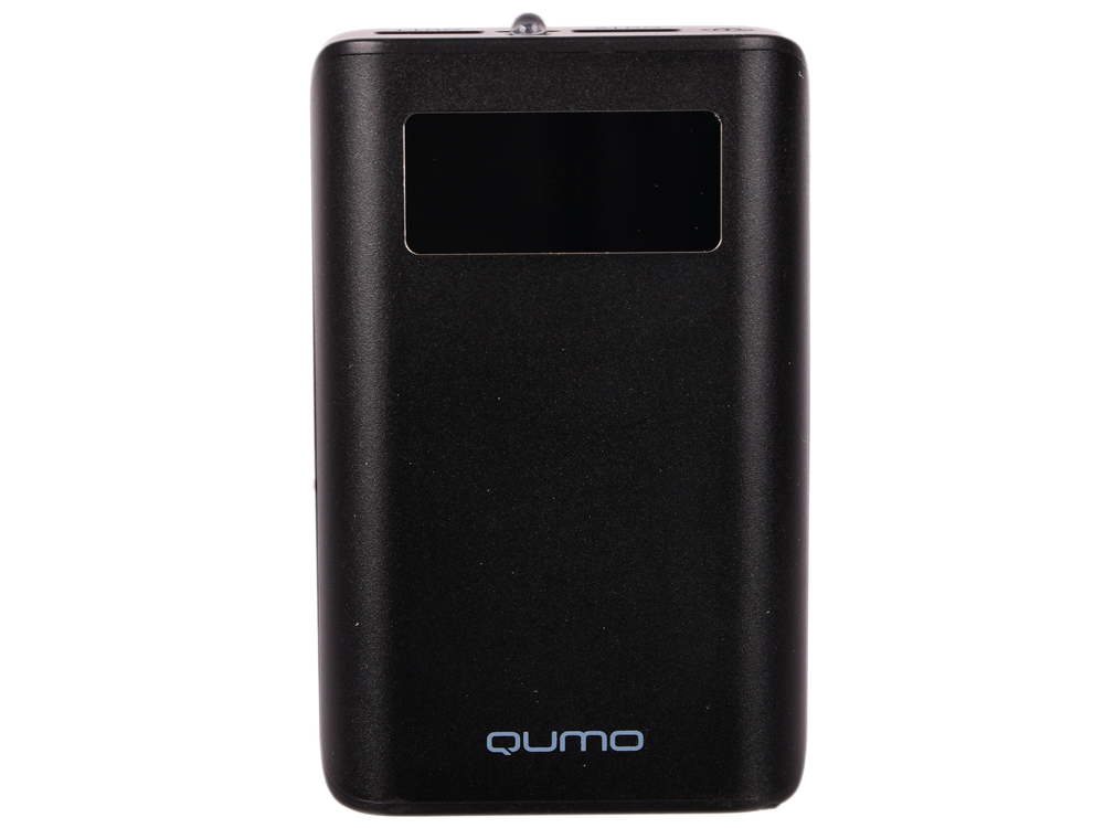 Внешний аккумулятор Qumo PowerAid 9600 PRO, 9600 мА-ч, 2 USB 1A+2A, вход до 2А, черный, корпус ABS пластик. батарея LG, LCD экран аккумулятор qumo poweraid 3800mah chocolate