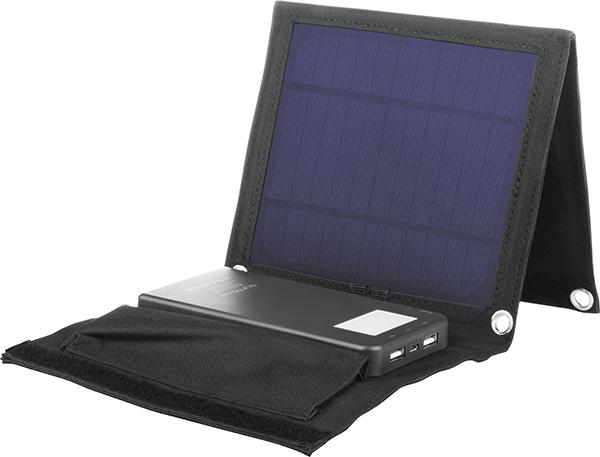 Внешний аккумулятор Qumo PowerAid Camper, 4000 мА-ч, выход 5В 2.1А, вход 5В 2А, солнечная панель 900 мА внешний аккумулятор qumo poweraid camper 4000 ма ч выход 5в 2 1а вход 5в 2а солнечная панель 900 ма