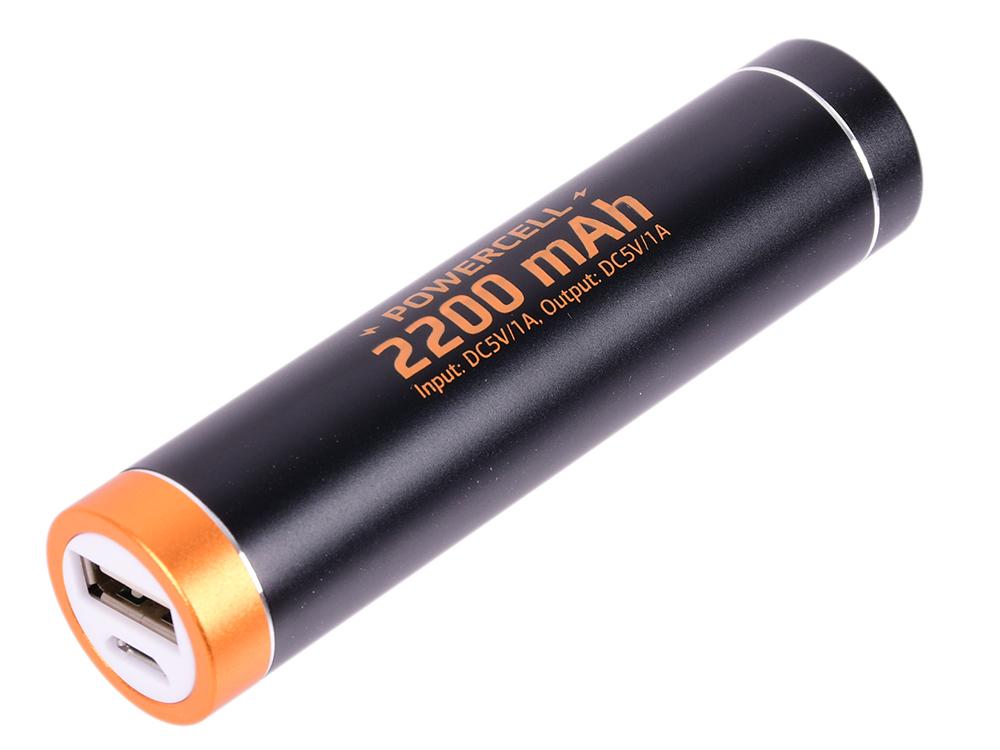 Внешний аккумулятор Qumo PowerAid PowerCell 2.2, литий-ионный, 2200 мА-ч, 1 USB 1A, вход 0.5A, металлический корпус, раскраска под Duracell
