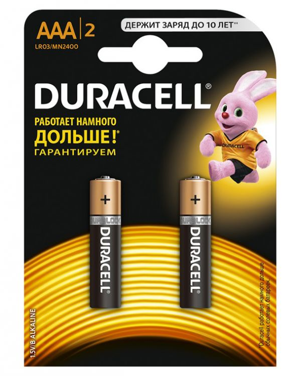 Батарейки Duracell LR03-2BL Ultra Power AAA блистер 2 шт батарейки duracell mn21 b1 security 12v alcaline