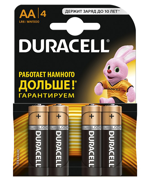 Батарейки Duracell LR6-4BL Ultra Power AA блистер 4 шт