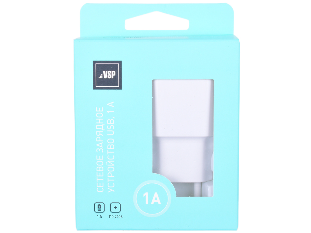 Сетевое зарядное устройство BoraSCO USB, 1A белое, зарядное устройство soalr 16800mah usb ipad iphone samsug usb dc 5v computure