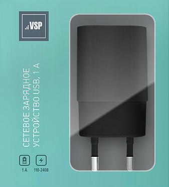 Сетевое зарядное устройство BoraSCO USB, 1A черное, untamo unergy white сетевое зарядное устройство