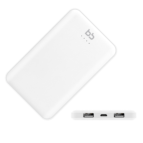 Внешний аккумулятор BB 5000 мАч, 2USB, 2A, Li-pol, белый, 007-001 аккумулятор внешний nobby pb 007 white