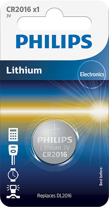 Батарейка Philips CR2016/01B Lithium 3.0V (блистер 1 шт) батарейка cr2025 01b philips lithium 3 0v 1 штука