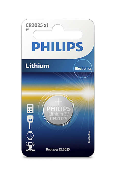 Батарейка Philips CR2025/01B Lithium 3.0V (блистер 1 шт) батарейка cr2025 01b philips lithium 3 0v 1 штука