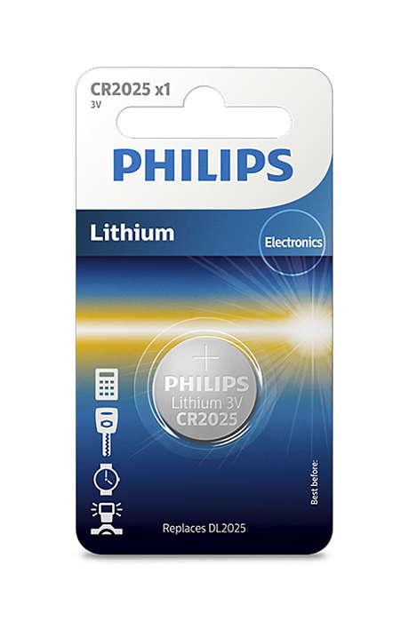 Батарейка Philips CR2025/01B Lithium 3.0V (блистер 1 шт) батарейка cr2032 01b philips lithium 3 0v 1 штука