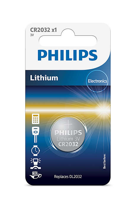 Батарейка Philips CR2032/01B Lithium 3.0V (блистер 1 шт) батарейка cr2025 01b philips lithium 3 0v 1 штука