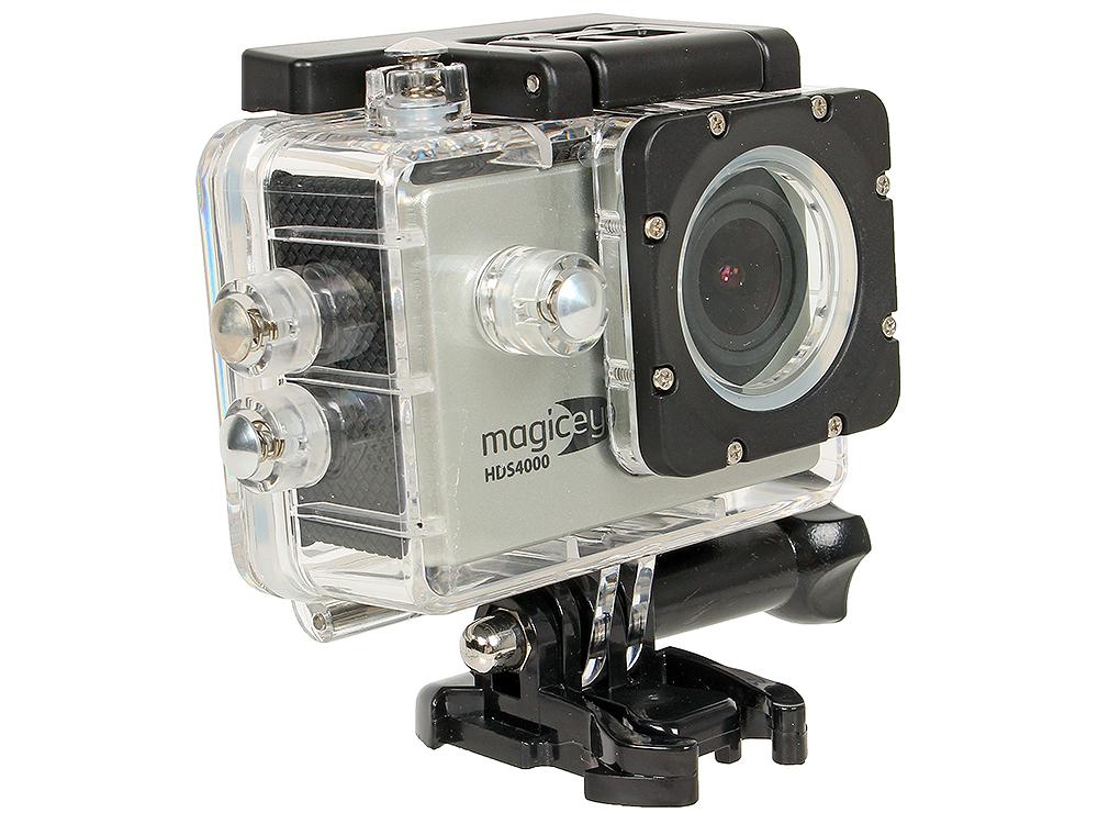 Экшн-камера Gmini MagicEye HDS4000 Silver Мото/Вело/Авто/Спорт, водонепроницаемый, FullHD, 1080p, LCD экран 1.5