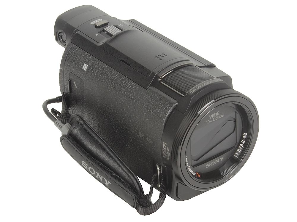 Видеокамера Sony FDR-AX33B (4K, 50p, 8,3Mp, Exmor R CMOS, CarlZeiss VS, 10x Zoom, 3.0. Wi-Fi/NFC) [FDRAX33B.CEE] фотоаппарат sony ilce 6300mb [ilce6300mb cec] 24 2mp sd sdhc sdxc 4k wi fi nfc sel18 135