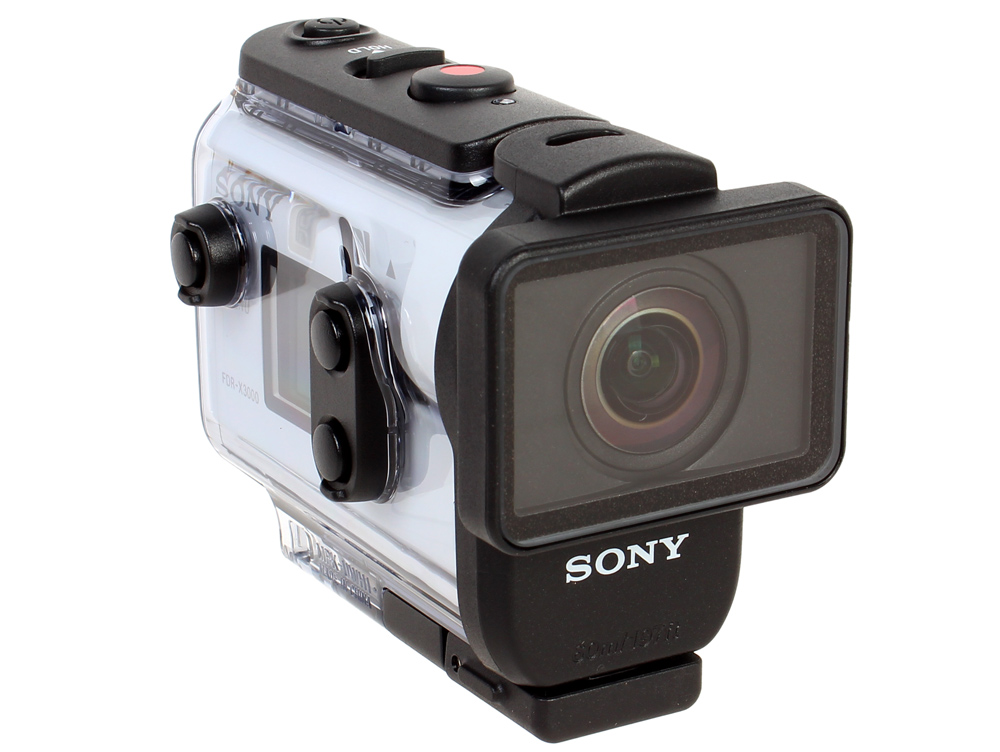 Action Видеокамера Sony FDR-X3000 4K {8.2Mpix, ExmorR, WiFi [FDRX3000.E35] ActionCam Splash Proof IPX4, SS, MP4, с подводным боксом (SPK-X1), Adhesiv колонки sony ss cs310cr black