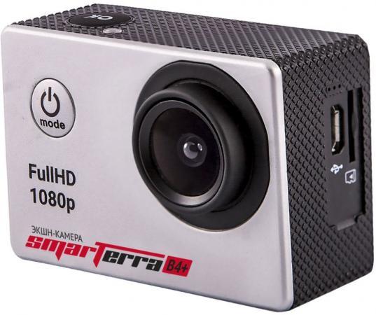 Экшн-камера Smarterra B4+ серебристый комплект креплений smarterra ak001b для экшн камер