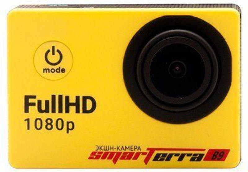 Экшн-камера Smarterra B9 желтый кейс smarterra camera keeper m size для экшн камер [cc002b]