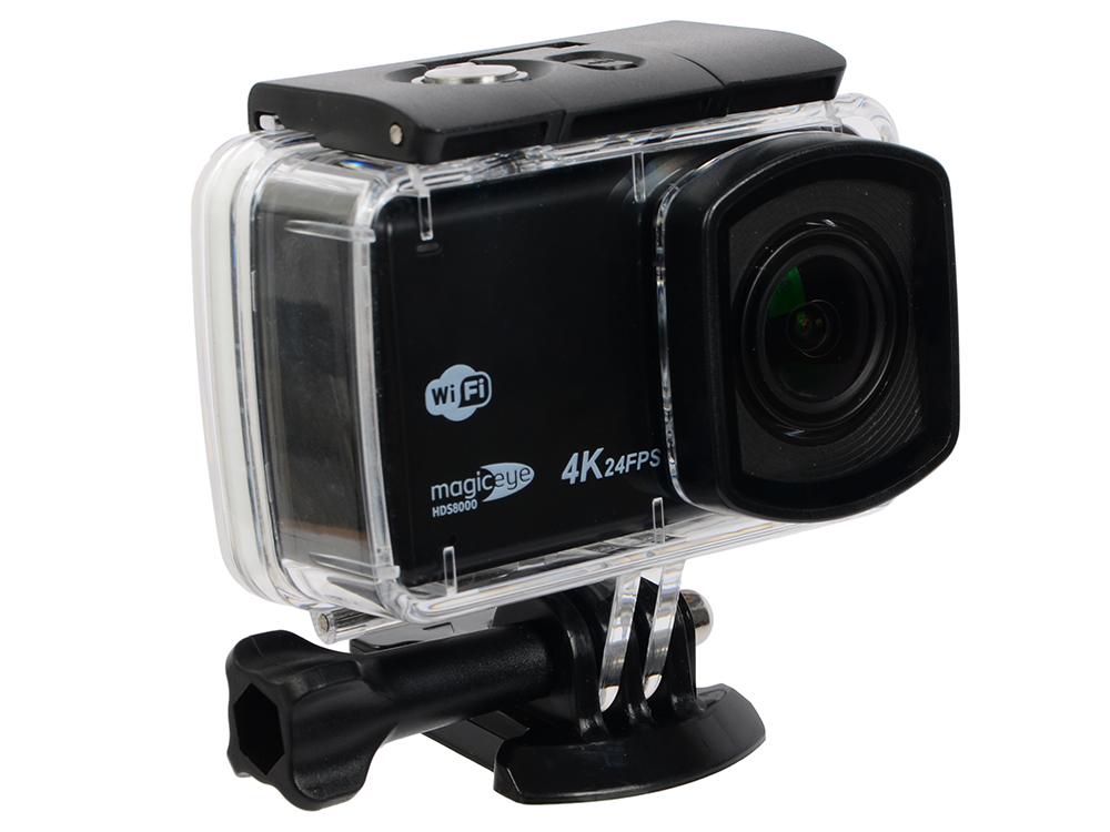 Экшн-камера Gmini MagicEye HDS8000 Black Мото/Вело/Авто/Спорт, водонепроницаемый, 4K, 24fps, 12 MPx, LCD экран 2.45
