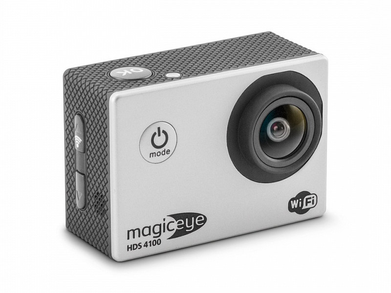 Экшн-камера Gmini MagicEye HDS4100 Silver Мото/Вело/Авто/Спорт, водонепроницаемый, FullHD, 1080p, LCD экран 2, G-sensor, Wi-Fi; HDMI выход