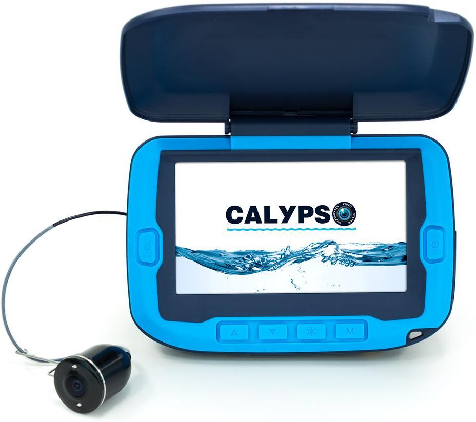 """Подводная видео-камера CALYPSO UVS-02 Синий, провод 20м. Экран 4,3"""", Разрывная нагрузка 20кг, подсветка камеры, аккум 4000 mAh"""