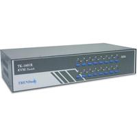 KВM коммутатор Trendnet TK-1601R (элек. коммутатор 16-х ЦПУ, Rack Mount, PS/2)