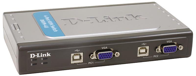 KVM-переключатель D-Link DKVM-4U 4-портовый переключатель KVM с портами USB