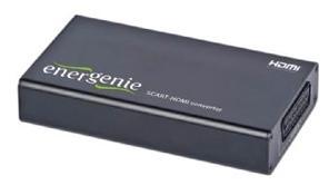 Конвертер EnerGenie SCART -) HDMI  DSC-SCART-HDMI  для перекодирования аналоговых сигналов с разъемом SCART в HDMI сигнал.