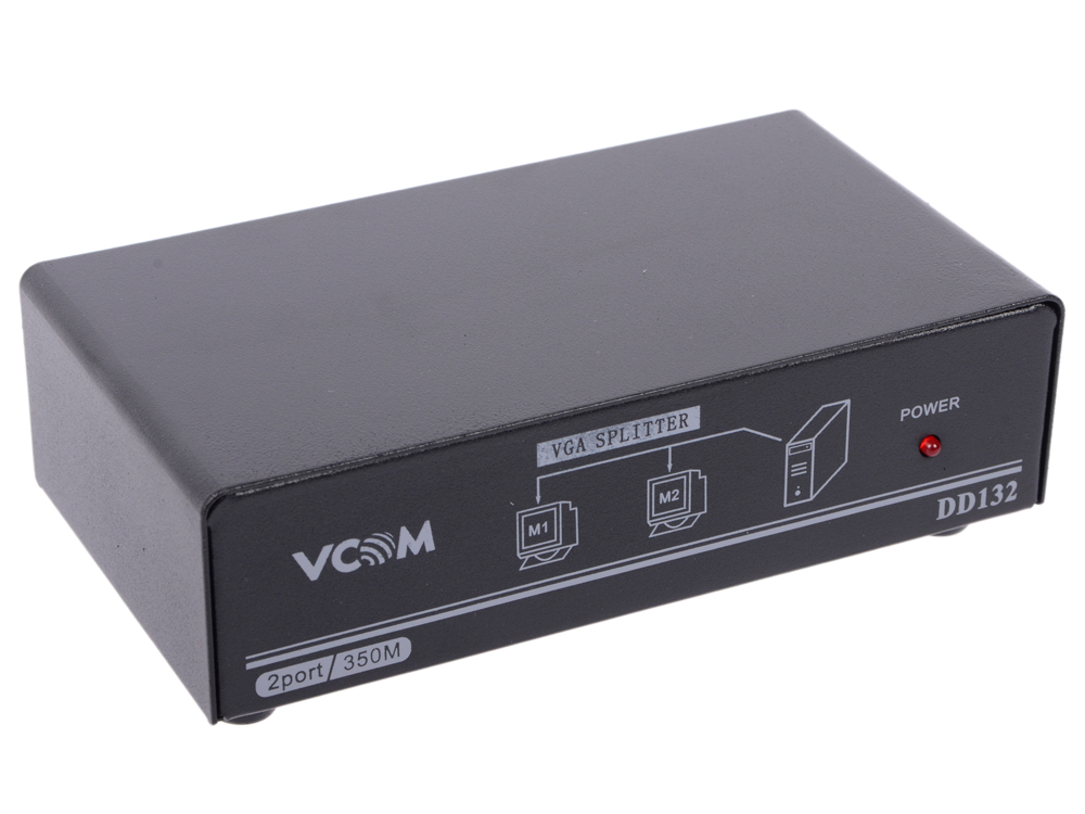 Разветвитель VGA 1 to 2 - 350MHz VCOM VDS8015 hightek hk vyth vga ypbpr to hd interface converter vga to hd ypbpr to hd converter