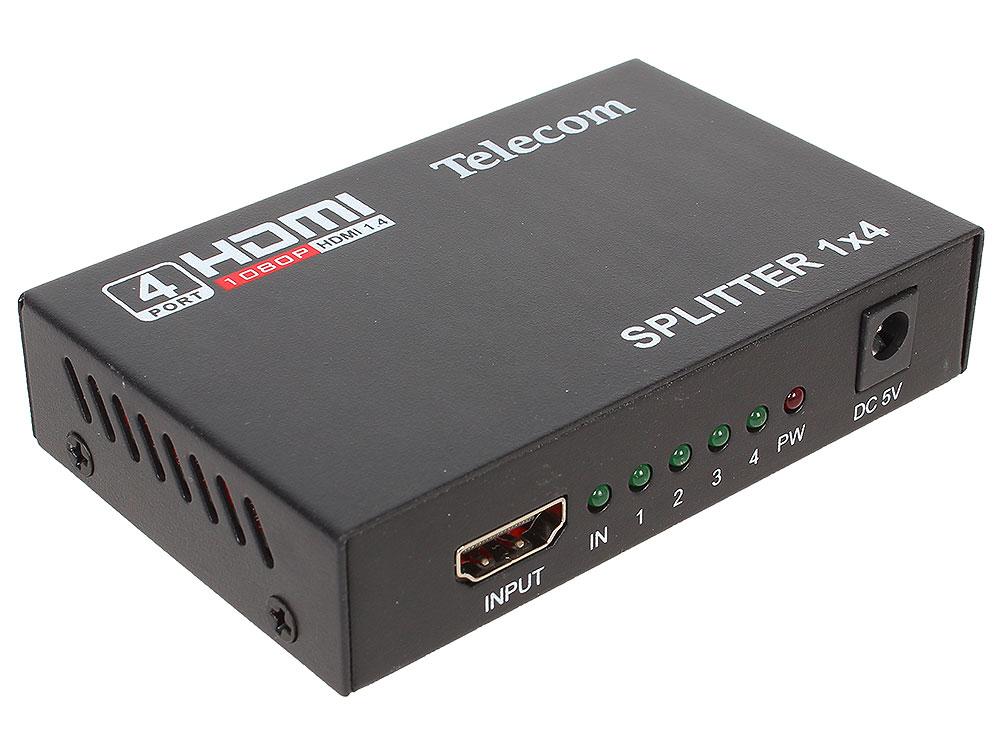 Разветвитель HDMI 1=)4 Telecom  (TTS5020), каскадируемый , 1.4v+3D