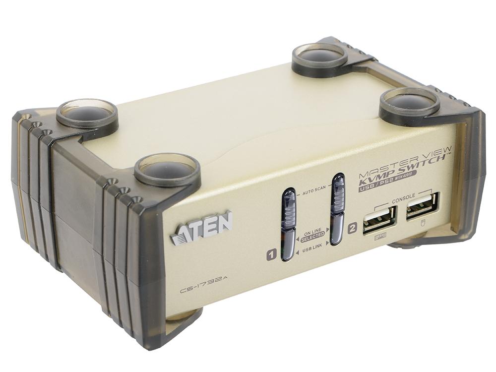 Переключатель KVM ATEN CS1732AC-AT/B удлинитель kvm aten ce250a a7 g d ce250a d