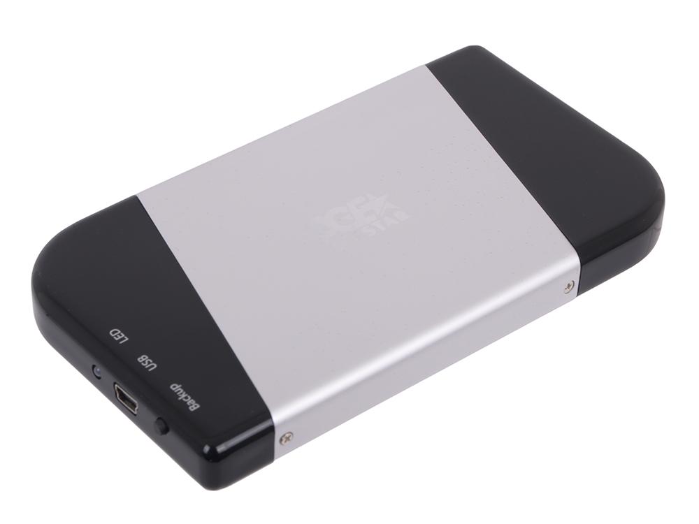 "Внешний бокс для 2.5"" HDD AgeStar SUB2A7 USB2.0 to SATA, алюминий"