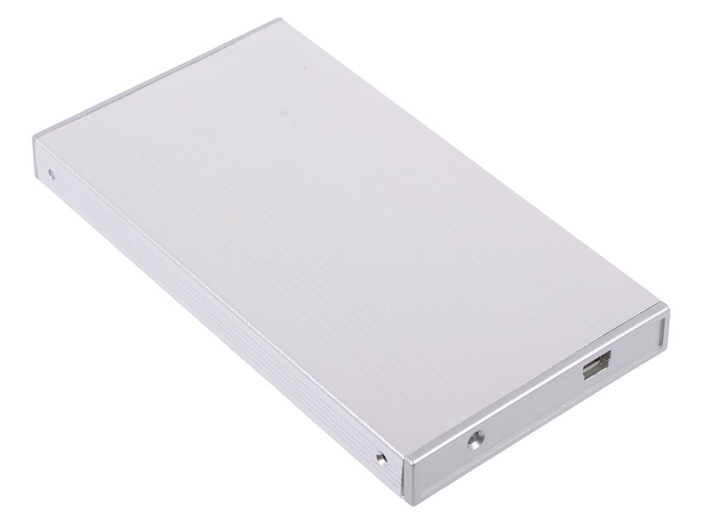 """Внешний бокс для 2.5"""" HDD AgeStar SUB2S Silver(серебристый) USB2.0 - SATA, алюминий"""