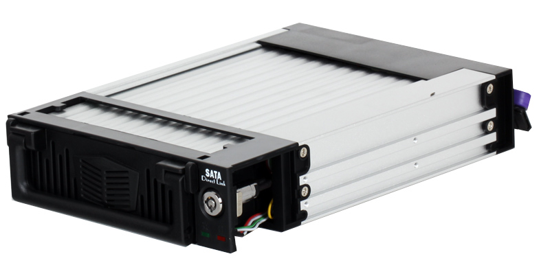 Мобил рек ViPower VPA-5010KPF-B-GM алюминий, черное, ключ, вентилятор, Hot Swap