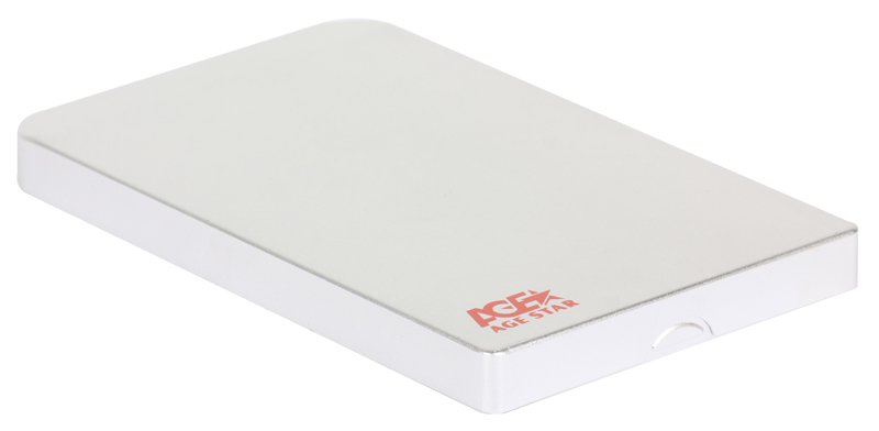 "Внешний бокс для 2.5"" HDD AgeStar 3UB2O1 (Silver) usb3.0 to SATA алюминий"