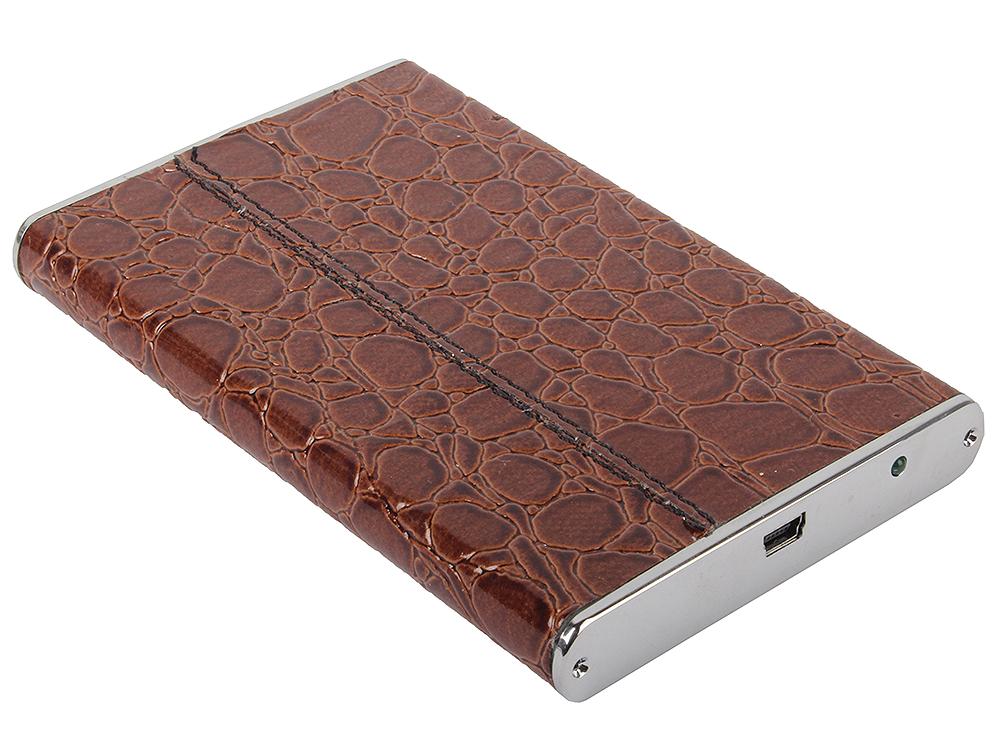 Внешний бокс для 2.5 HDD Orient 2508U3 Brown(корич.кожа) USB2.0 - SATA отделка под кожу крокодила стоимость