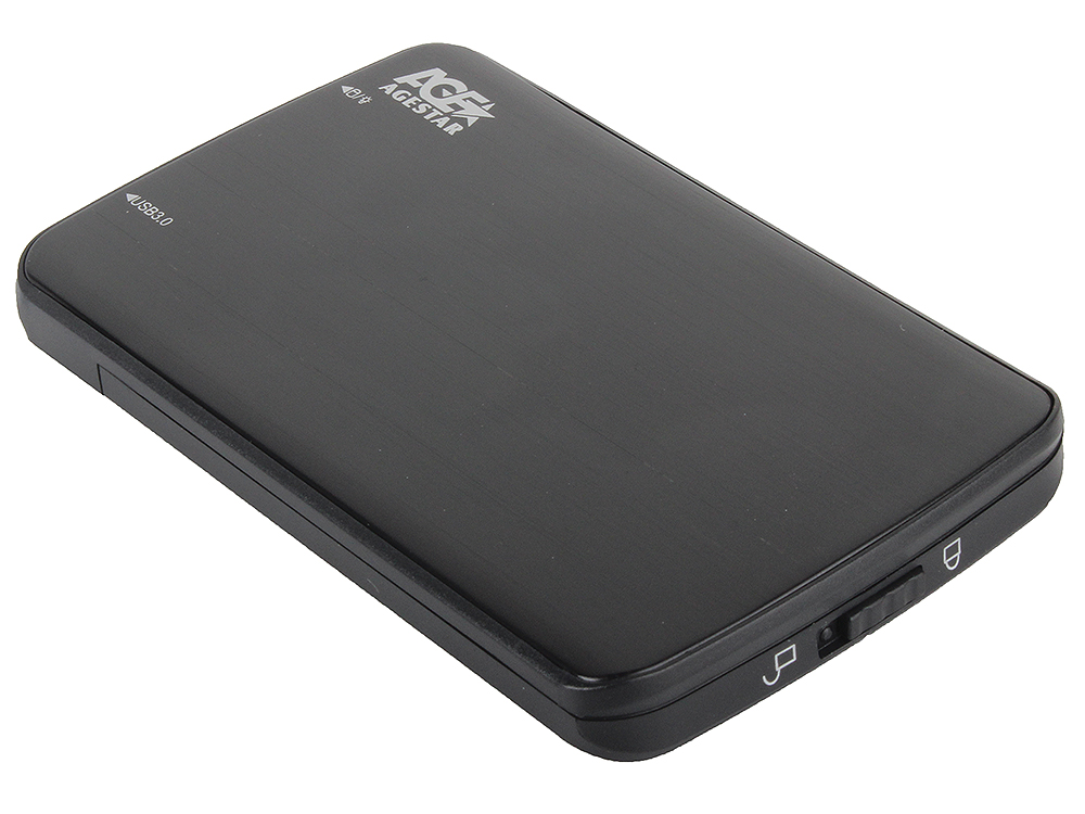 "Внешний бокс для 2.5"" HDD AgeStar 3UB2A12 usb3.0 to SATA алюминий"