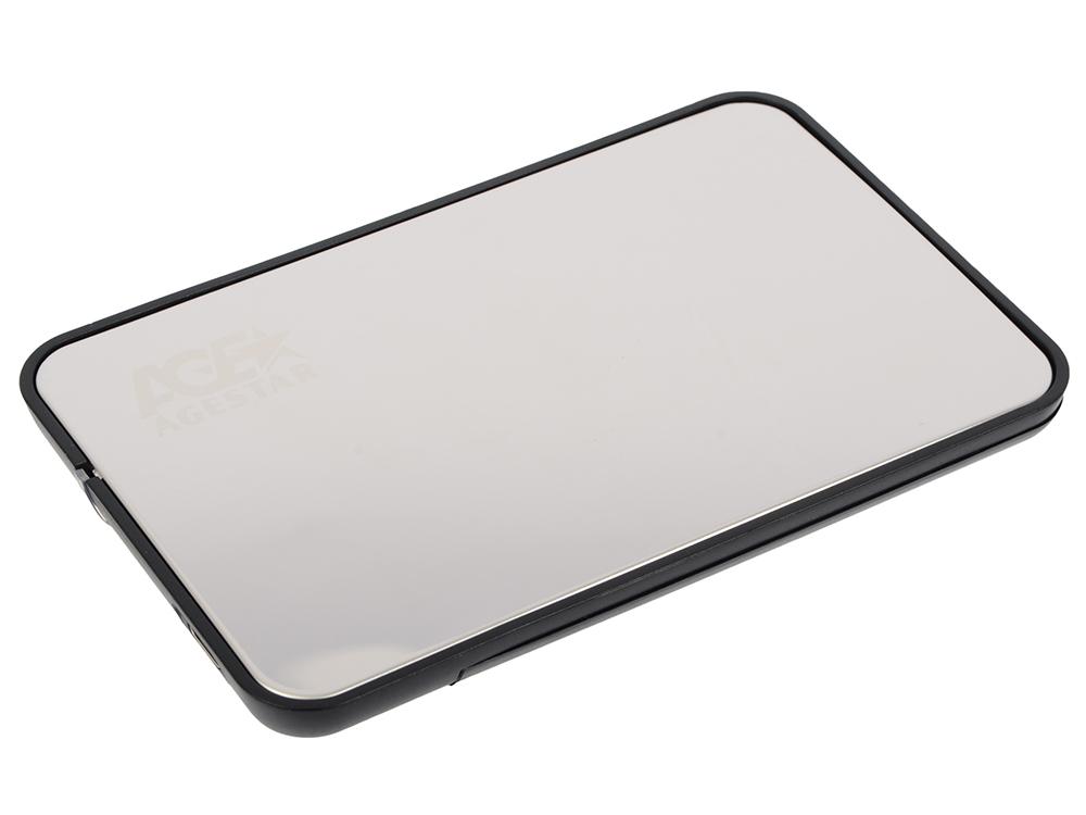 Внешний контейнер для HDD 2.5 SATA AgeStar 31UB2A8C USB3.1 серебристый внешний контейнер для hdd 2 5 sata agestar 3ub2o1 usb3 0 красный
