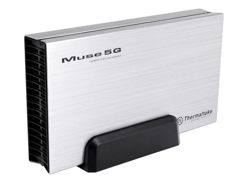 "Внешний контейнер для HDD 3.5"" Thermaltake Muse 5G ST0042Е USB3.0 серебристый"