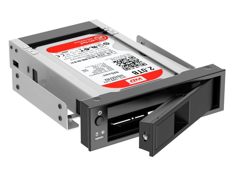 Mobile rack для HDD 3.5 SATA 3 Orico 1106SS-BK SATA черный orico is331 mini ide to sata hdd adapter converter black