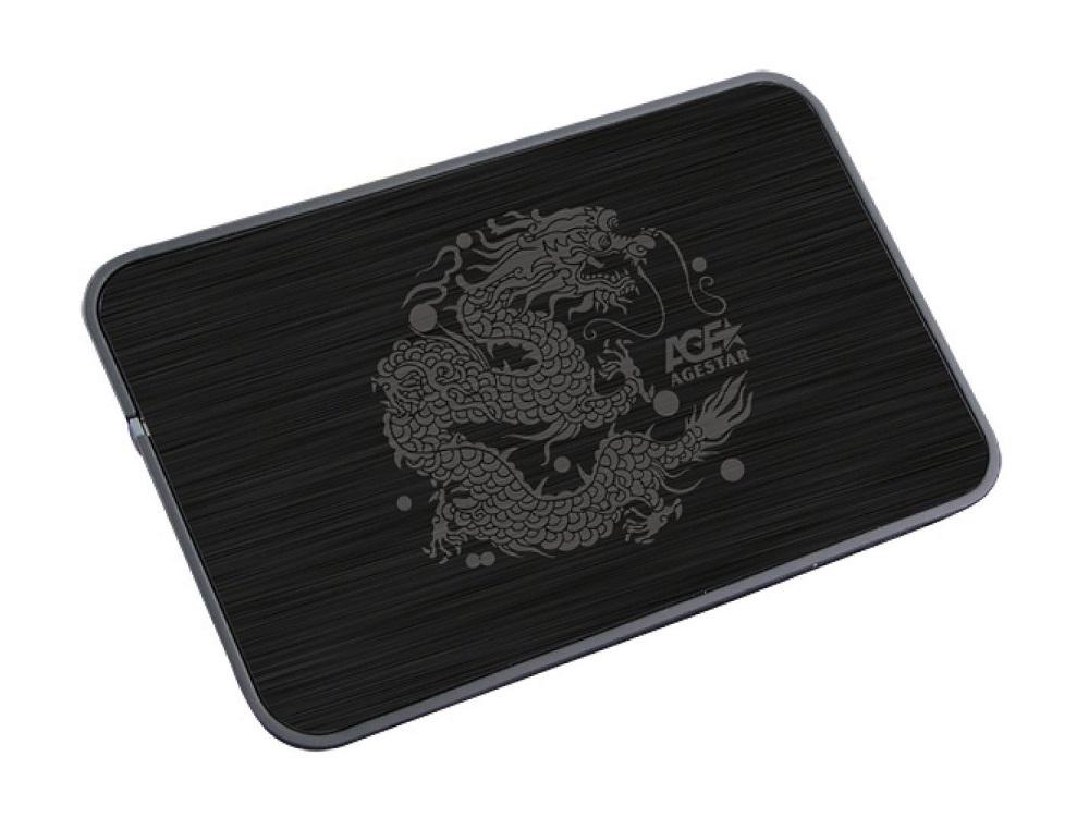 Внешний корпус 2.5 SATA AgeStar 3UB2A8 (BLACK), сталь+пластик, черный, безвинт конструкц, USB 3.0 sata корпус agestar 3ub2a8 black usb3 0 to 2 5hdd sata алюминий
