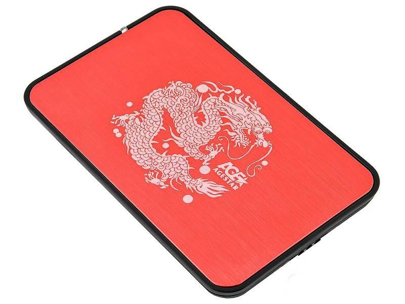 Внешний корпус 2.5 SATA AgeStar 3UB2A8 (RED) USB3.0, сталь+пластик, безвинтовая конструкция, USB 3.0 корпус 2 5 agestar 3ub2o1 sata usb3 0 red