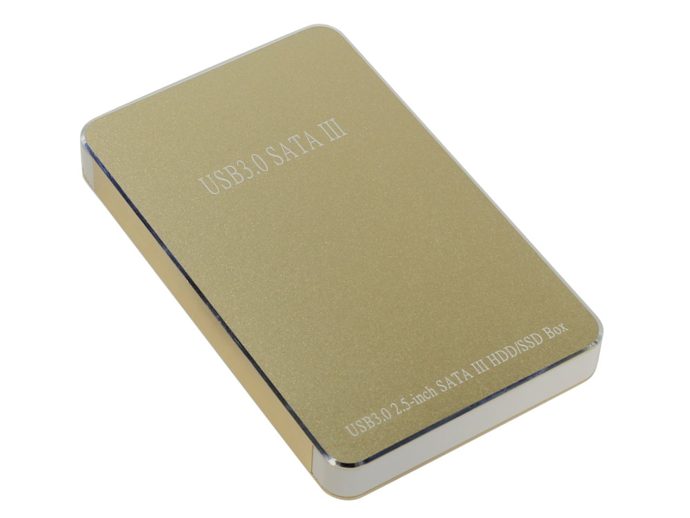 Мобил рек USB3.0 Orient 2569 U3, для 2.5 HDD SATA, алюм.+пластик, золотистый аксессуар контейнер для hdd orient 2564 u3