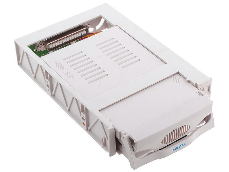 Mobile rack для HDD 3.5 AGESTAR MR3-SATA(S)-1F 1fan бежевый SR3P-S-1F mobile rack салазки для hdd agestar mr3 sata sw 1f черный
