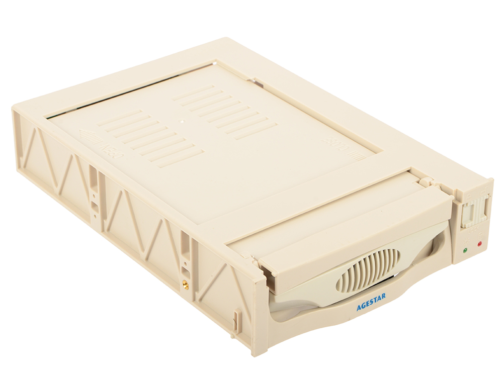 Mobile rack для HDD 3.5 AGESTAR SR3P(SW)-1F SATA бежевый