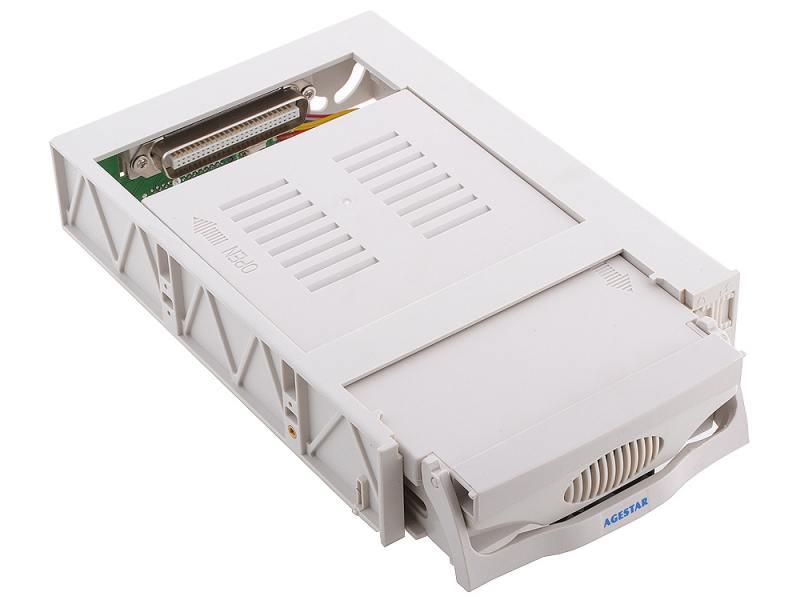 Mobile rack для HDD 3.5 AGESTAR SR3P(SW)-1F SATA бежевый mobile rack салазки для hdd agestar mr3 sata sw 1f черный