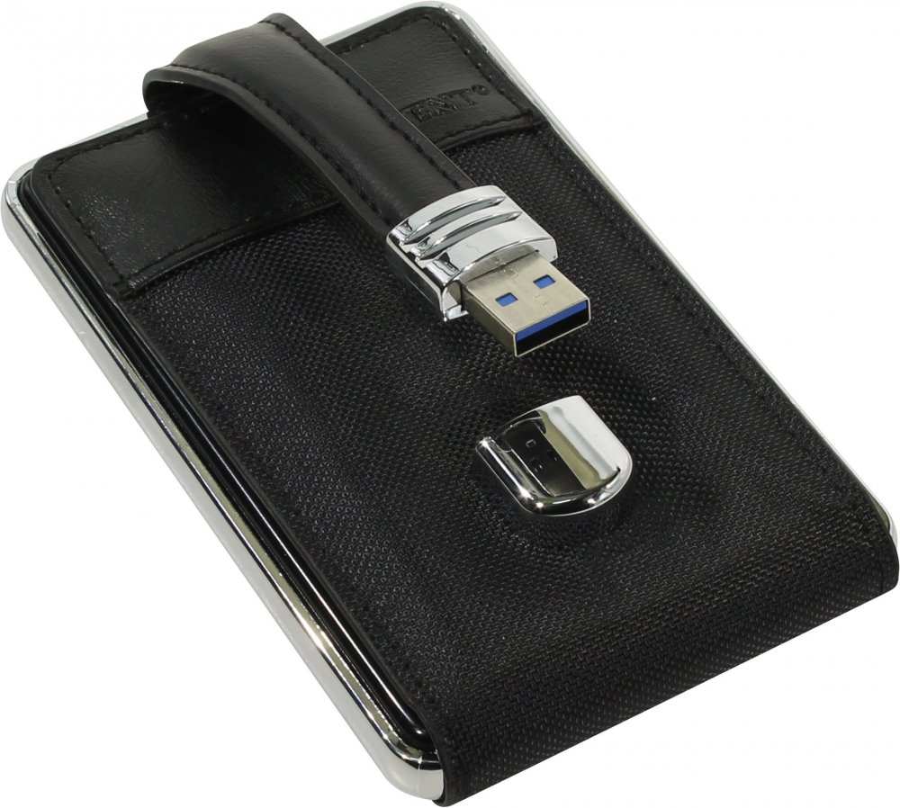 """Мобил рек USB 3.0 Orient 2564U3, для 2.5"""" HDD/SSD SATA 6Gb/s (ASM1153E), кнопка BackUp (резервное копирование), алюминий, кожаная отделка"""