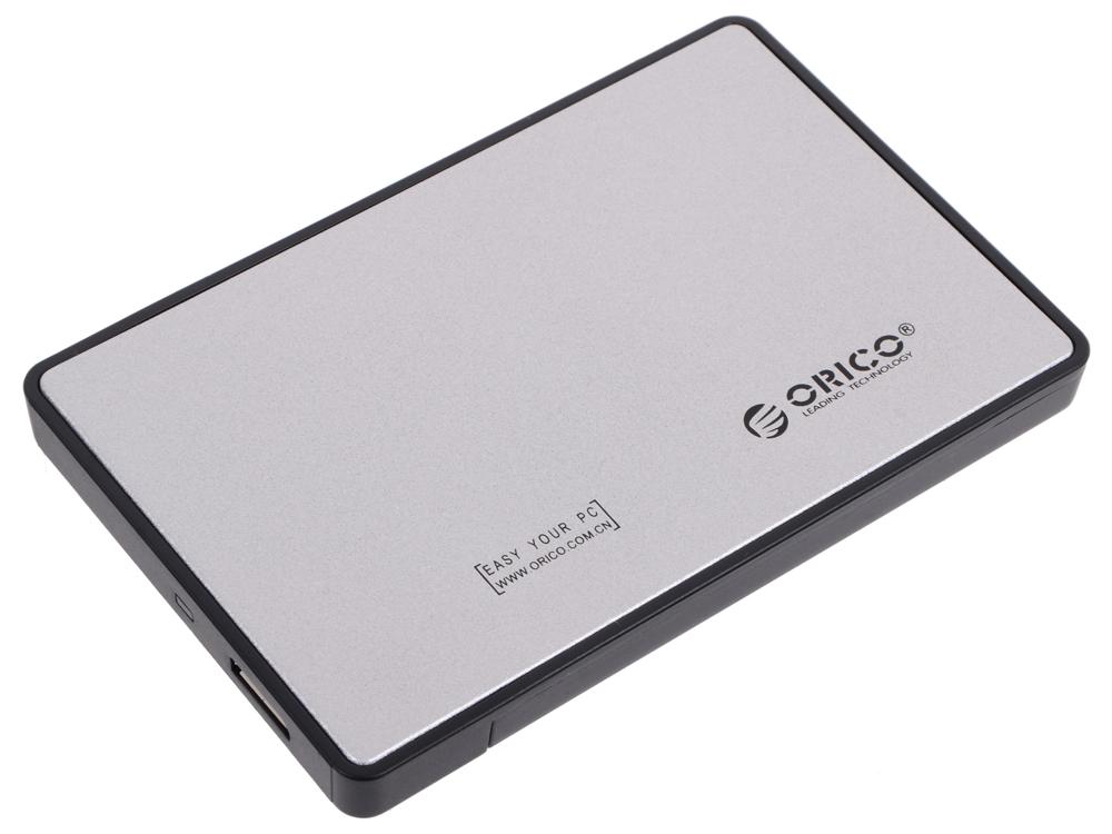 Внешний контейнер для HDD Orico 2588US3-SV (серебристый) 2.5 USB 3.0 внешний контейнер для hdd 2x3 5 sata orico 9528u3 usb3 0 серебристый